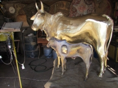 Vaca e bezerro Nelore