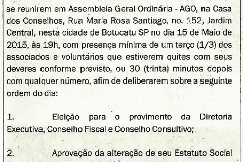 Edital Convocação - 15/05/2015