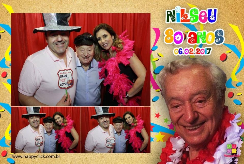 """<p>Veja abaixo alguns momentos que a HappyClick capturou!</p> <p>Para ver todas as fotos, cliquem em:<a href=""""https://www.facebook.com/pg/happyclickcabines/photos/?tab=album&album_id=864298620379466"""">Nilseu 80 anos</a>não esqueça de marcar seus amigos!</p>"""