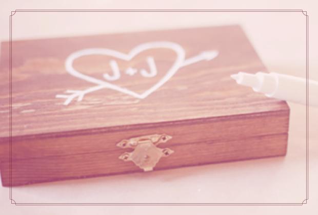 Faça você mesma – Porta alianças de madeira
